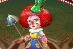 Dziewczyna klaun