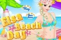 Elsa na Plaży