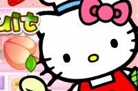 Hello Kitty krojenie owoców