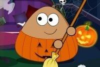 Sprzątanie na Halloween Pou